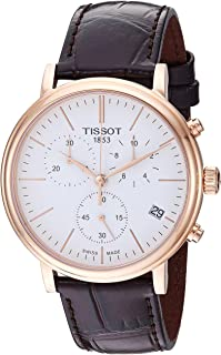 mens Carson Stainless Steel Dress Watch Brown T1224173601100