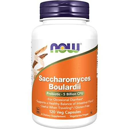 Now Foods Supplements, Saccharomyces Boulardii, 5 Billion CFU Probiotic, 120 Veg Capsules