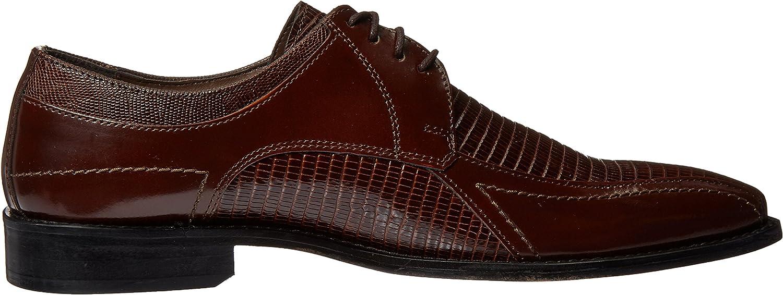 Stacy Adams Men's Graziano Leather Sole Bike Toe Oxford Shoe