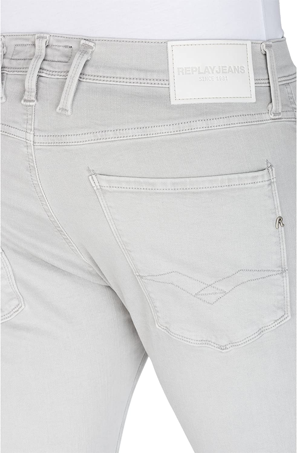 Replay Anbass Jean Slim Homme Gris (Cement 111)