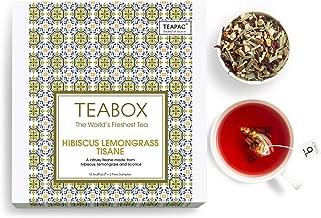 Teabox Hibiscus Lemongrass Herbal Tea, 16 Tea Bags