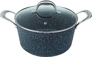 MasterPan MP-131 5QT Ultra Non-Stick Cast Aluminum Stock Pot with Glass Lid, 5 Quart, Granite Series