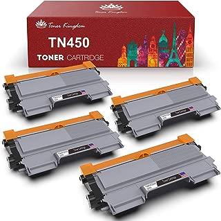 Toner Kingdom Compatible Toner Cartridge Replacement for Brother TN450 TN-450 TN420 for Brother HL-2240 HL-2270DW HL-2280DW MFC-7360N MFC-7860DW Printer(Black, 4-Pack)