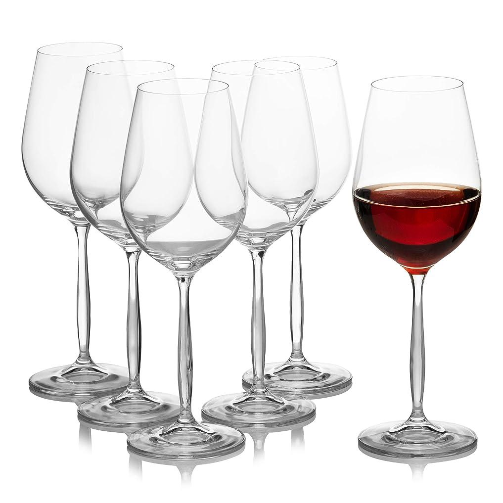 悪用課す涙Crystalexシンディ?ワイン、メガネ、6のセットnon-leadedクリスタル