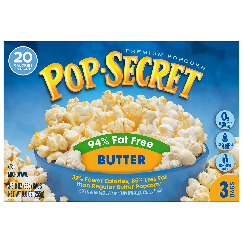 Pop Secret Popcorn 94% Fat Free 3 Purchase Microwave Dedication Ounce Bags Butter