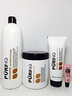 Mx Puring Richness Nourishing Shampoo 33.8 Oz, Intensive Mask 33.8 Oz and Nourishing Rinse Free Conditioner