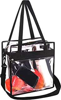 Bagail Clear Bag with Zipper Pouch NFL & PGA Stadium Approved Tote Bags with Adjustable Shoulder Strap