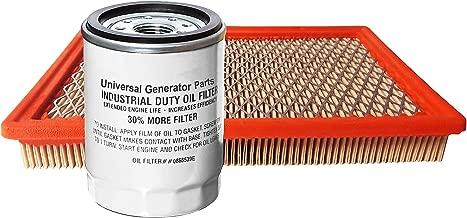 070185D Generac Replacement for 070185E 070185E and 070185ES Generac Air Filter 0G5894 and Generac//Uninversal Generator Parts Replacement Oil Filter Sets for 070185B Air and Oil
