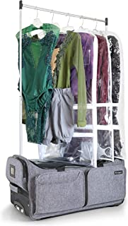 suitcase with garment rack