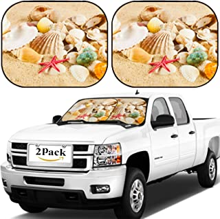 MSD Car Windshield Sun Shade, Universal Fit, 2-Piece for Car Window SunShades, Automotive Foldable Protector Cover, Image ID: 20172673 Pearl on The Seashell The Exotic sea Shell Treasure from The sea
