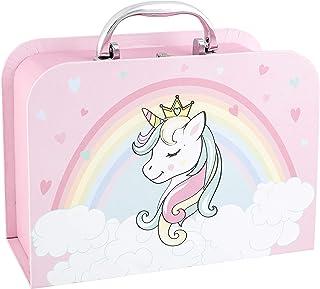 Idena 31419 Coffret Cadeau Licorne 23 x 17 x 7 cm Boîte Cadeau pour Naissance, fête prénatale, Cadeau, boîte de Souvenirs,...