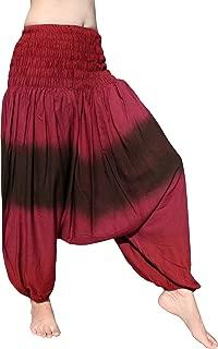 RaanPahMuang Slide 彩色Mao 罩衫腰裤弹性脚踝人造丝哈伦裤
