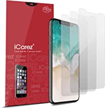 iCarez [HD Anti Glare Matte Screen Protector for Apple iPhone 11 Pro iPhone X/Xs 5.8-Inch [3 Pack ] Premium No Bubble Easy to Apply with Hinge Installation