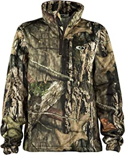 Women's Performance Quarter Zip Camo Pullover for Hunting and Casual Wear in Break-Up Country & Bottomland