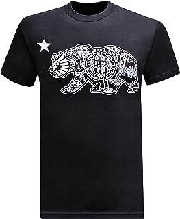 California Republic Aztec California Bear Men`s T-Shirt