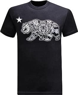tees geek California Republic Aztec California Bear Men's T-Shirt