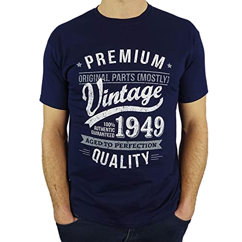 2cf8a2f0 1949 Vintage Year - Aged To Perfection - 70th Birthday Gift / Present Mens  T-