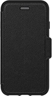 OtterBox Strada Series Case for iPhone 8 & iPhone 7 (NOT Plus) - Bulk Packaging - Shadow Onyx (Black/Pewter Black Leather)