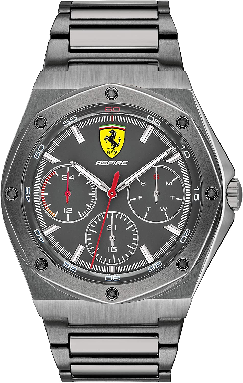 Scuderia Ferrari Reloj Analógico para Hombre de Cuarzo con Correa en Acero Inoxidable 0830695