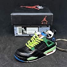 Air Jordan IV 4 Retro DB Doernbecher Superman OG Sneakers Shoes 3D Keychain 1:6 Figure + Shoe Box