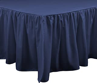 Brielle Essentials Bedskirt, Queen, Navy