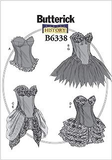 BUTTERICK PATTERNS B6338 Curved-Hem Corsets & Skirts, E5 (14-16-18-20-22)