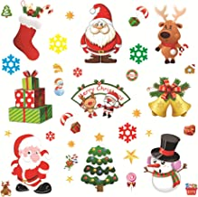 LZMU Christmas Window Clings Christmas Window Stickers Decorations Xmas DIY Cartoon Sticker Kids Xmas Gift Favors