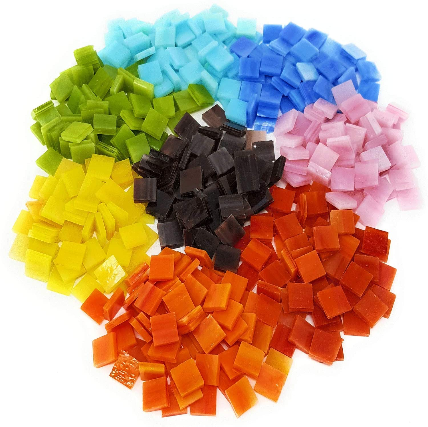 Colorful Mosaic Tiles Max 48% OFF – 480 Bargain sale Pieces Glas Stained Assorted Pack of