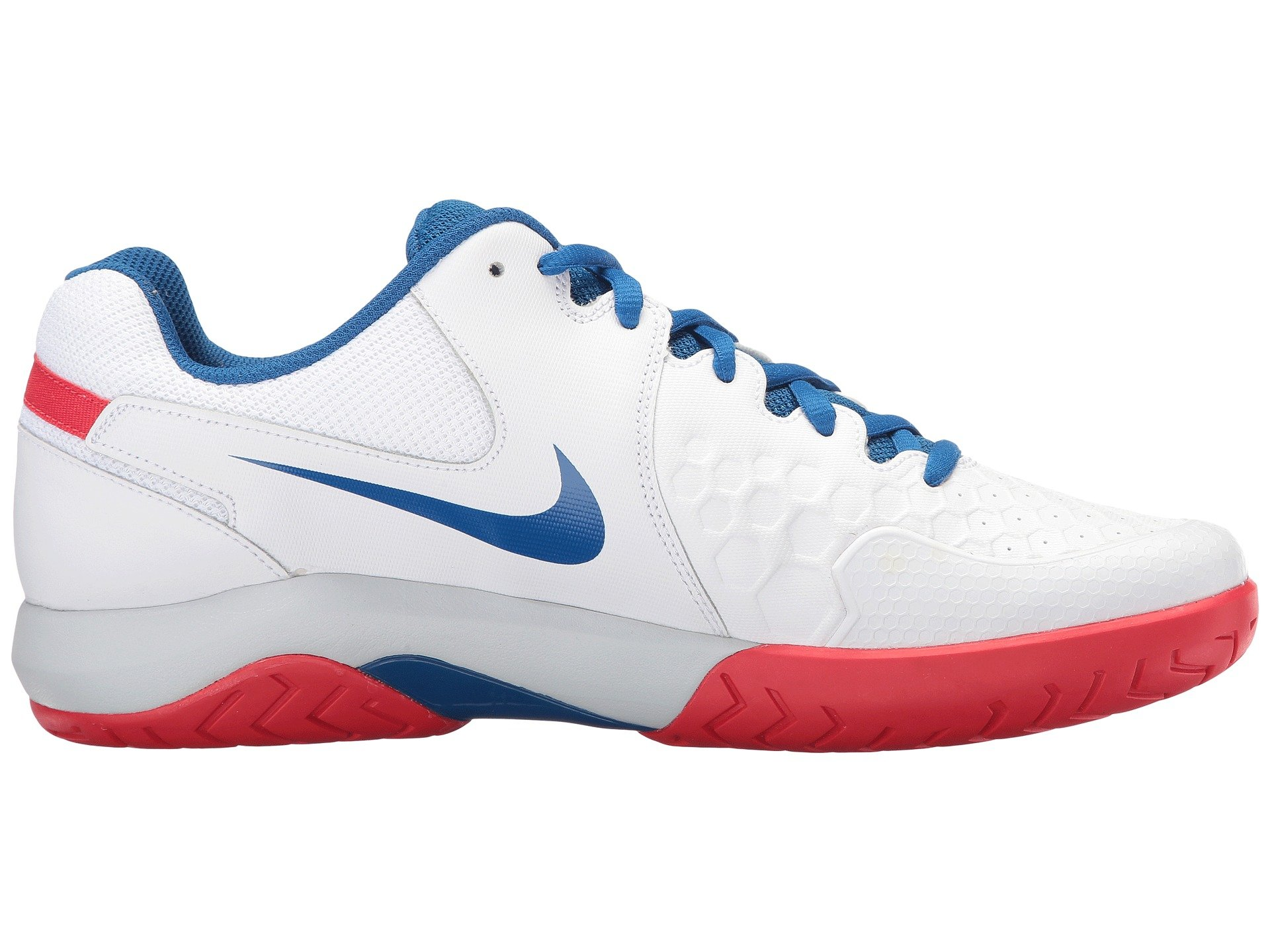 f52441930938 Shop Nike Air Zoom Resistance In White Blue Jay Pure Platinum Action Red