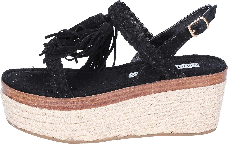 EMANUELLE VEE Sandals Womens Suede Black