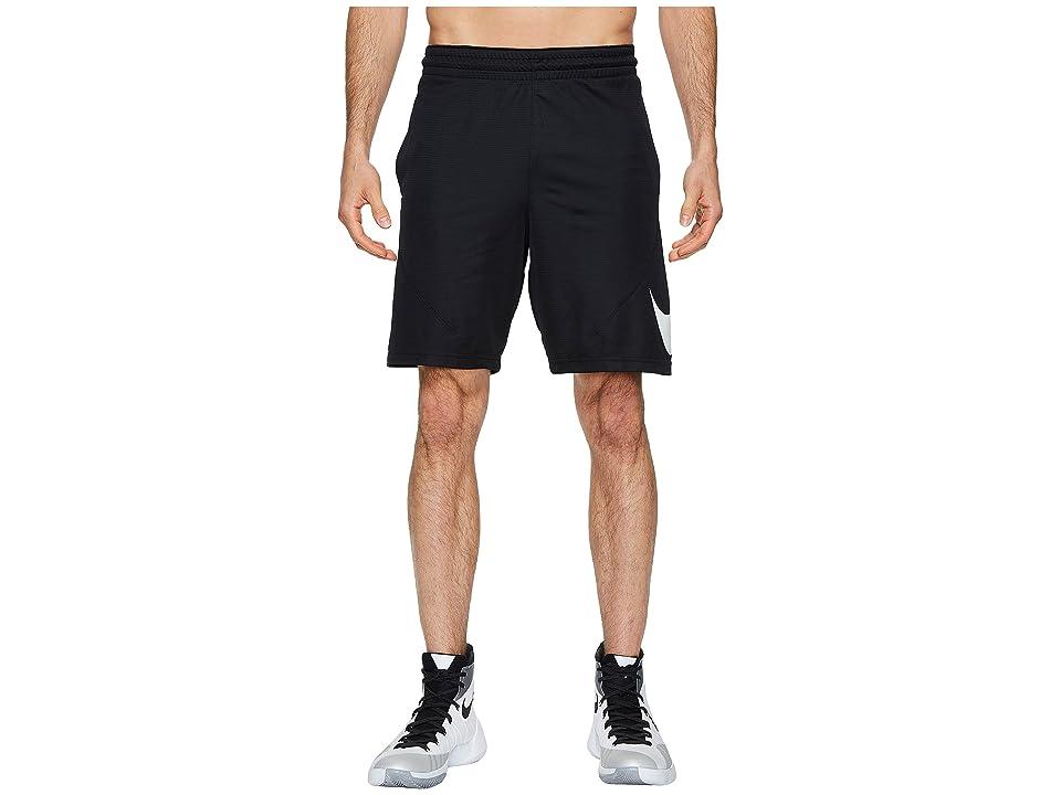 Nike Dry 9 Basketball Short (Black/Black/White) Men