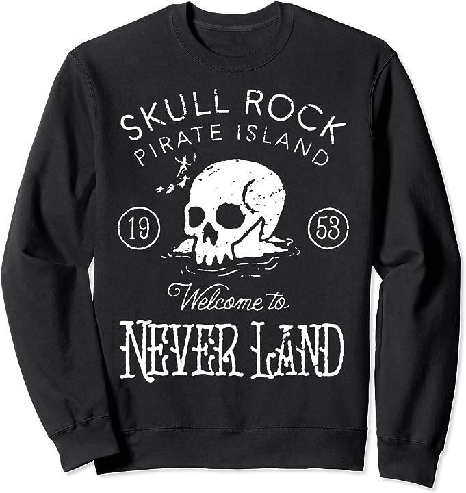 Disney Peter Pan Skull Rock Vintage Graphic Sweatshirt