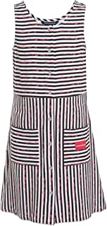 Calvin Klein girls Girls' Sleeveless Striped Dress Casual Dress