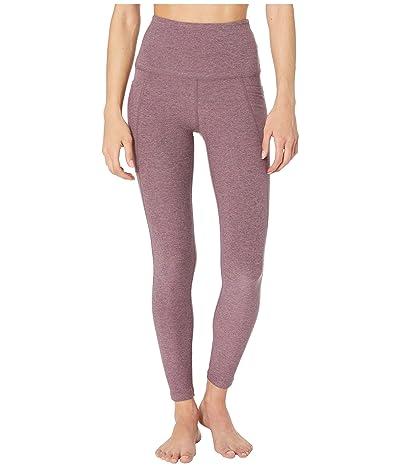 Beyond Yoga Spacedye High Waist Pocket Midi Legging (Deep Blush/Wild Orchid) Women