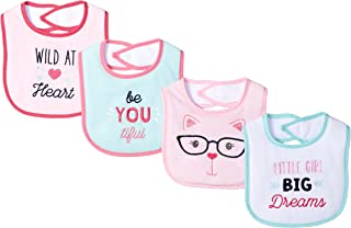 Luvable Friends Unisex Baby Cotton Terry Drooler Bibs with Fiber Filling