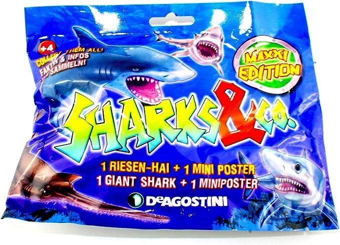 3 Booster // Tüten Figuren Haie Maxxi Edition Serie 2 DeAgostini Sharks /& Co