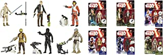 Star Wars Force Awakens 3.75-Inch 6 Figure Pack with Rey Resistance Outifit, Han Solo, Poe Dameron, Resistance Trooper, TIE Fighter Pilot & Hassk Thug