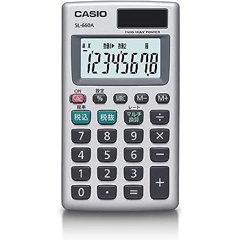 カシオ パーソナル電卓 税計算 マルチ換算 カードタイプ 8桁 SL-660A-N