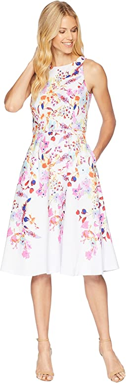 Tahari by ASL Floral Print Fit and Flare Dress