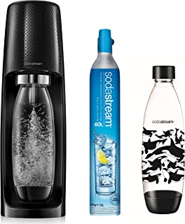 Sodastream SPIRITNATURE Machine à Eau Petillante, Plastique, Noire [Exclusif Amazon]