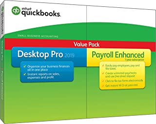 Intuit QuickBooks Desktop Pro 2019 with Enhanced Payroll [PC Disc][Old Version]
