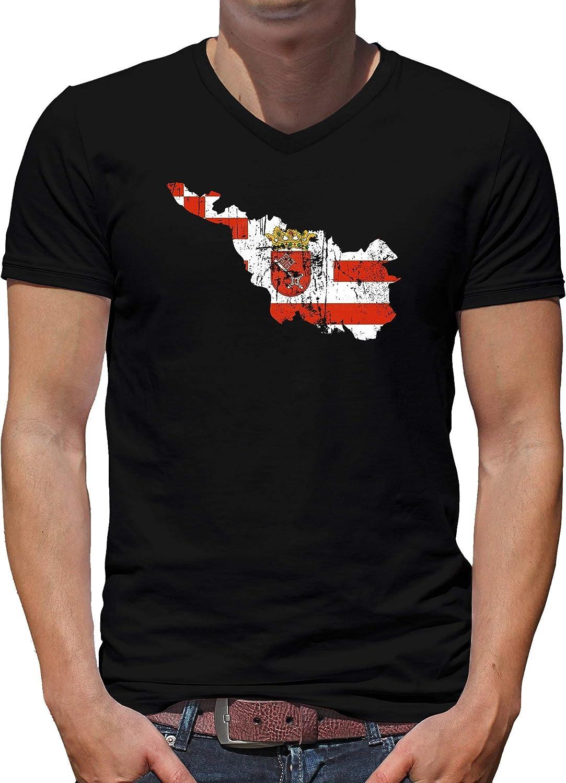 Camiseta de manga corta para hombre con cuello en V, diseño ...