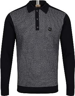 Weaver Long Sleeve Polo Shirt | Black
