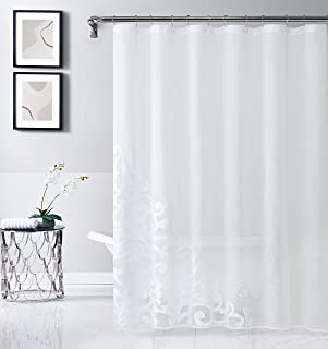 Dainty Home NATALSCWH Fabric Shower Curtain, White