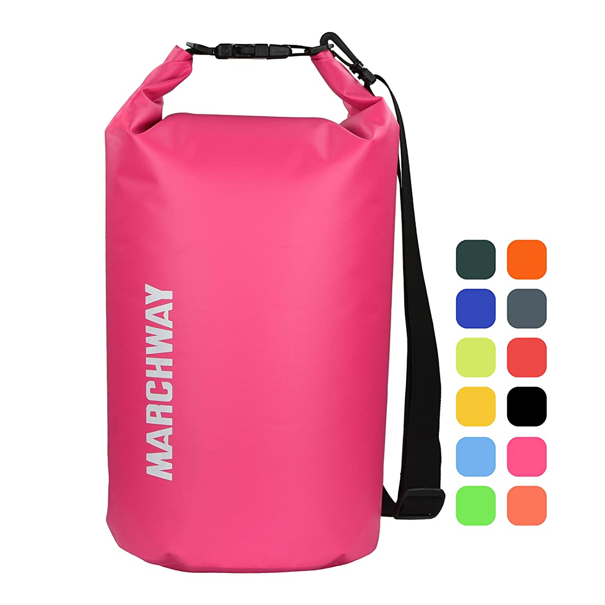 MARCHWAY Floating Waterproof Dry Bag 5L/10L/20L/30L/40L, Roll Top Sack Keeps Gear Dry for Kayaking, Rafting, Boating, Swimming, Camping, Hiking, Beach, Fishing mqyiuotgshzakkip