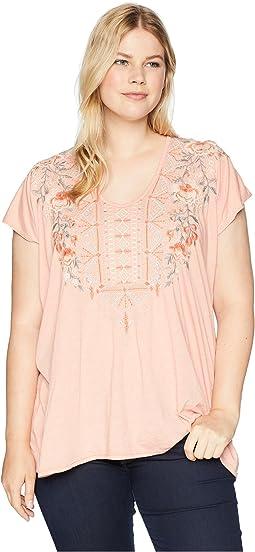 Plus Size Calida Deep Scoop T-Shirt
