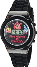Five Nights at Freddy's Kids' Digital Watch with Black Case, Flashing LED..