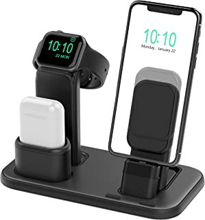 Beacoo Upgraded 3 in 1 Charging Stand for iWatch Series 5/4/3/2/1, Charging Station Dock Compatible with Airpods Pro/1/2 i...