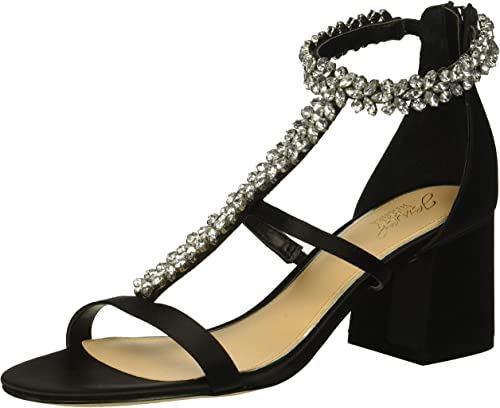 Jewel Badgley Mischka Wohommes Janica Heeled Sandal, noir, 7.5 M US