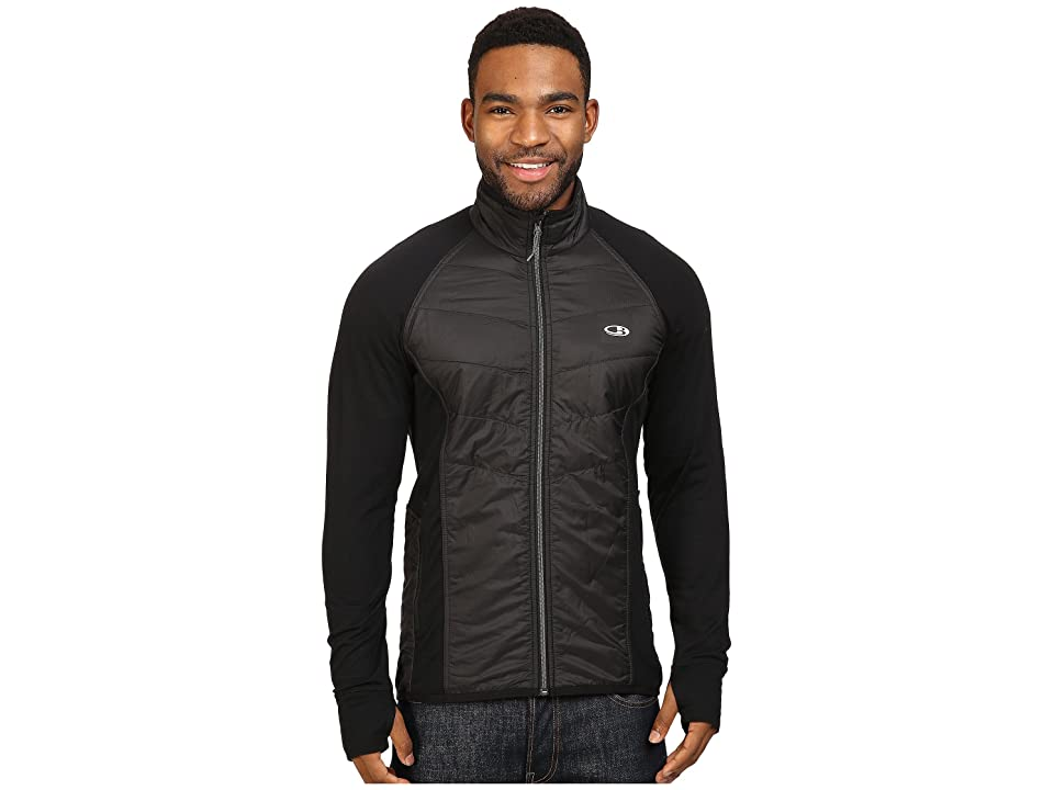 Icebreaker Ellipse Jacket (Black/Black/Metal) Men